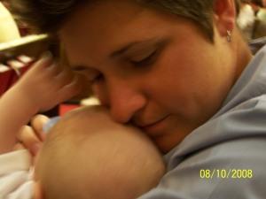 holly (aka, the Baby Whisperer) and brennan, post-baptism.