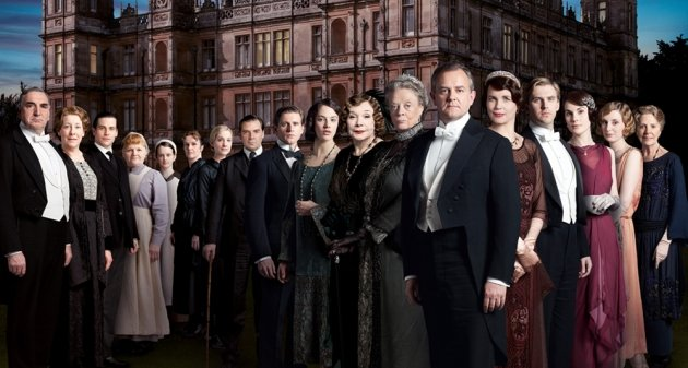 The cast of PBS series Downton Abbey.