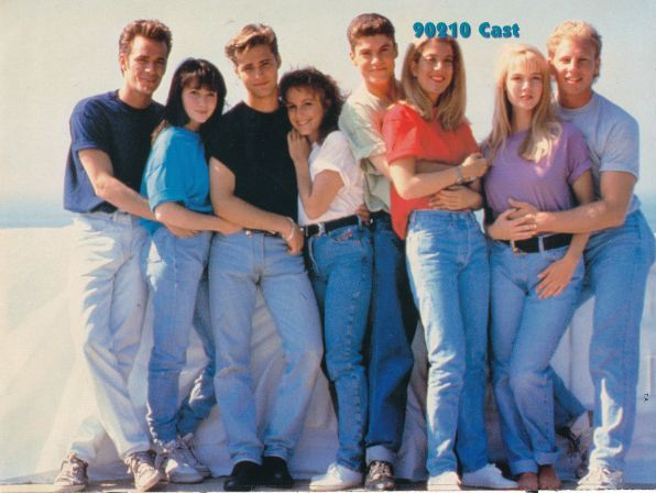 The original cast of the hit 90s TV show Beverly Hills 90201.