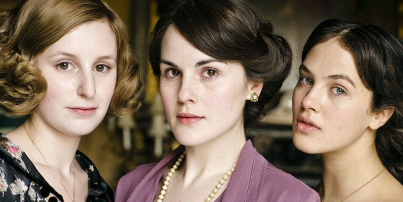 The sisters on PBS hit series Downton Abbey: Edith, Mary, and Sybil.