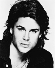 A headshot of actor Rob Lowe in the 80s.