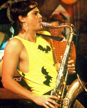 Rob Lowe playing the saxophone in the hit 80s movie, St. Elmo's Fire.