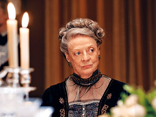 The Dowager Countess of the hit PBS series Downton Abbey.