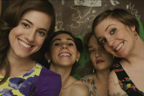 A photo of the cast from the hit HBO series Girls.